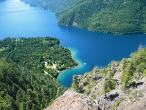 Lake Crescent from Pyramid Peak